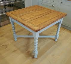 Solid Oak 1940s Draw Leaf Table Extending Dining Table Kitchen
