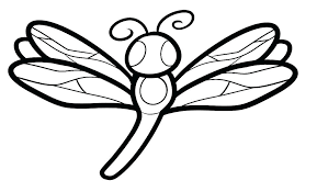 Fly Coloring Page Animal Pages Dragonfly Cute Kids Art Green Darner