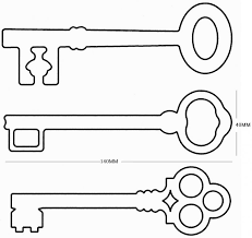 Sweet Looking Key Coloring Page Printable Keys Pages