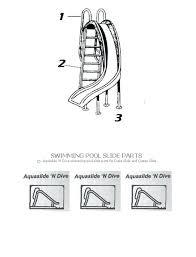 Swimming Pool Sliding Boards N Dive Slide Parts Board