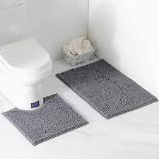 chenille plüsch teppich badezimmer zwei stück nicht slip haushalts waren bad produkte bad matten bad teppich set