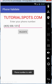 valid phone number android how to check a valid phone number free tutorials