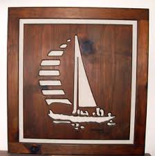Image Is Loading VINTAGE KEN DADDARIO SAILBOAT WOOD CARVING WALL ART