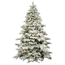 Sears Flocked Pencil Christmas Tree by Christmas Tree With Colored And White Lights Roselawnlutheran