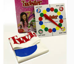 Classic Kids Body Twister Moves Game Play Mat Board Group Party Picnic Fun Outdoor Sports