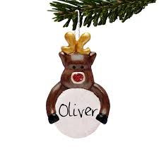 Christmas Tree Names by Reindeer Personalised Christmas Tree Decoration Childrens Gift