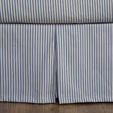 Box Pleat Bed Skirt by Ticking Stripe Bed Skirt 5 Colors Available Ticking Stripe