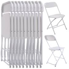 100 Event Folding Chair New Set Of 10 Plastic S Wedding Party