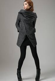 short winter biker jacket charcoal black modern edgy streetwear
