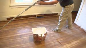 Restain Hardwood Floors Darker by Refinishing A Hardwood Floor With Polycrylic Clear Semi Gloss