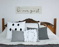 Be Our Guest Room Decor Bedroom Wooden Sign