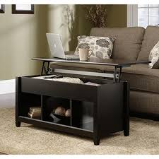 Staples Sauder Edgewater Desk sauder edge water estate black built in storage coffee table