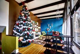 Pretty Cheap Artificial Christmas Trees In Living Room Midcentury With Pale Oak Benjamin Moore Next To