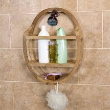 Teak Bathtub Tray Caddy by Teak Round Shower Caddy Bathroom