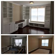 Used Fireproof File Cabinets Atlanta by Custom Office Built In Cabinetry Complete With Desk With Hanging