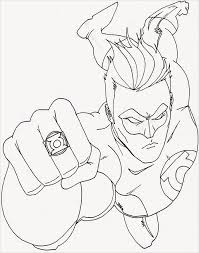 Superhero Coloring Pages Green Latern