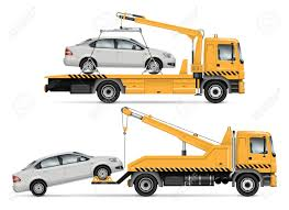 100 Tow Truck Vector Mockup Isolated Template Of Breakdown Lorry