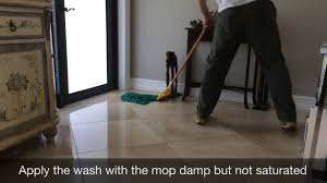 routine tile floor cleaning
