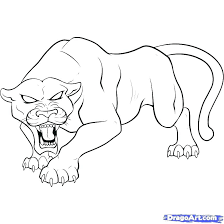 Panther Coloring Pages Unique Black About Remodel Print With