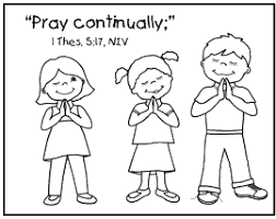 Children Praying Coloring Page Bible Sketch