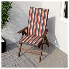 Folding Patio Chairs Ikea by äpplarö Reclining Chair Outdoor Foldable Brown Stained Ikea
