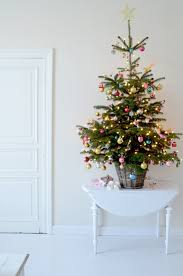 table top christmas tree gold pink blue decorations