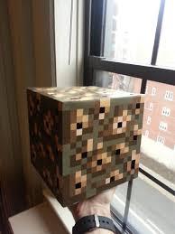 Minecraft Redstone Glowstone Lamp by Minecraft Glowstone Cube Lamp 5 Steps