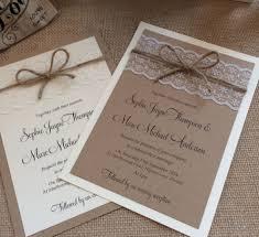 Shabby Chic Wedding Invitations Rustic