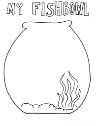 Fish Bowl Coloring Sheet In A Fishbowl Page Printable Pages From Kinderart Drawing