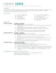 Sample Caregiver Objectives Resume Templates For Child Carer Duties
