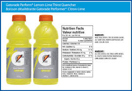 Nutrition Facts Gatorade