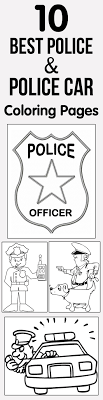 10 Best Police Car Coloring Pages Your Toddler Will Love