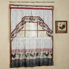 Blue Kitchen Curtains Walmart by Interior Design Curtains And Valances Swags Galore Walmart