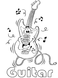Music Coloring Pages Guitar