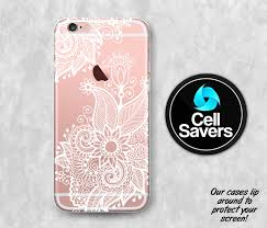 White Henna Clear iPhone 7 Plus iPhone 6s iPhone 6 iPhone 6