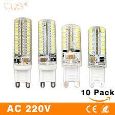 10pcs g9 led l g4 bulb 3w smd2835 3014 dc 12v ac 220v white