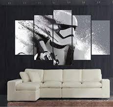 wangzuo 5 teilig leinwanddrucke wandbilder wohnzimmer küche modern deko bilder starwars stormtrooper leinwandbilder bild auf leinwand wandbild