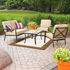 Mainstays Patio Furniture Replacement Cushions by Crossman Conversation Set Replacement Cushions Garden Winds