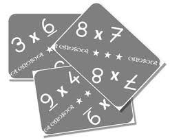 cartes pour apprendre les tables de multiplication table de