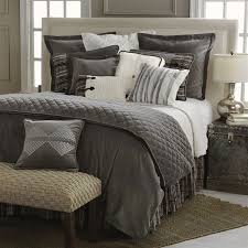 Whistler Comforter Set Bedding Collection The Features A Rich Grey Velvet And Shams Accented With Charming
