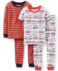 Carter's Little Boys' 4-Piece Fire Truck Pajamas | Pajamas ...