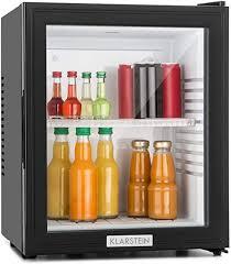 klarstein mks 12 minibar mini kühlschrank getränkekühlschrank e 24 liter ca 38 x 47 x 38 cm bxhxt 30 db leiser betrieb schwarz