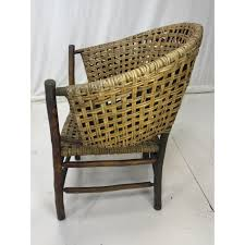 Charming Old Wicker Chairs Rocking Position Patio Planters ...