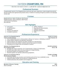 Second Rn Job Resume Archives