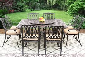 Cast Aluminum Patio Furniture With Sunbrella Cushions by San Marcos Cast Aluminum Outdoor Patio 9pc Dining Set 8 Dining