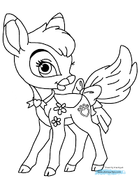 Disney Palace Pets Printable Coloring Pages 3 For Princess