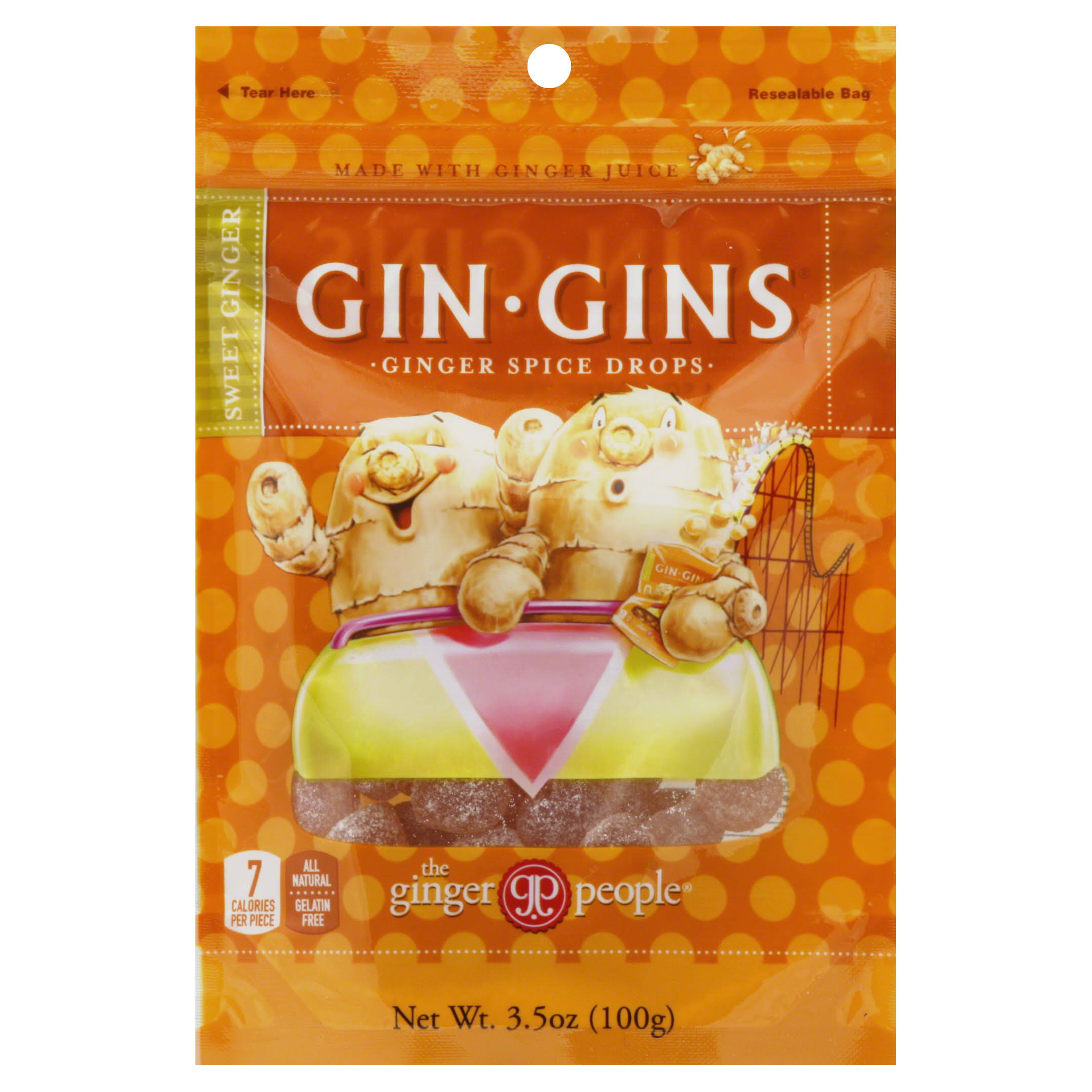 The Ginger People Gin Gins Ginger Spice Drops - 100g