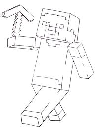Best Collection Amazing Of Minecraft Coloring Steve Pages With A Sword
