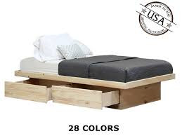 Fortunoff Patio Furniture Paramus Nj by Queen Platform Bed With 2 Drawers In Pine