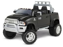 100 Dodge Dually Trucks Kid Trax Ram 3500 12V Battery Powered RideOn Black